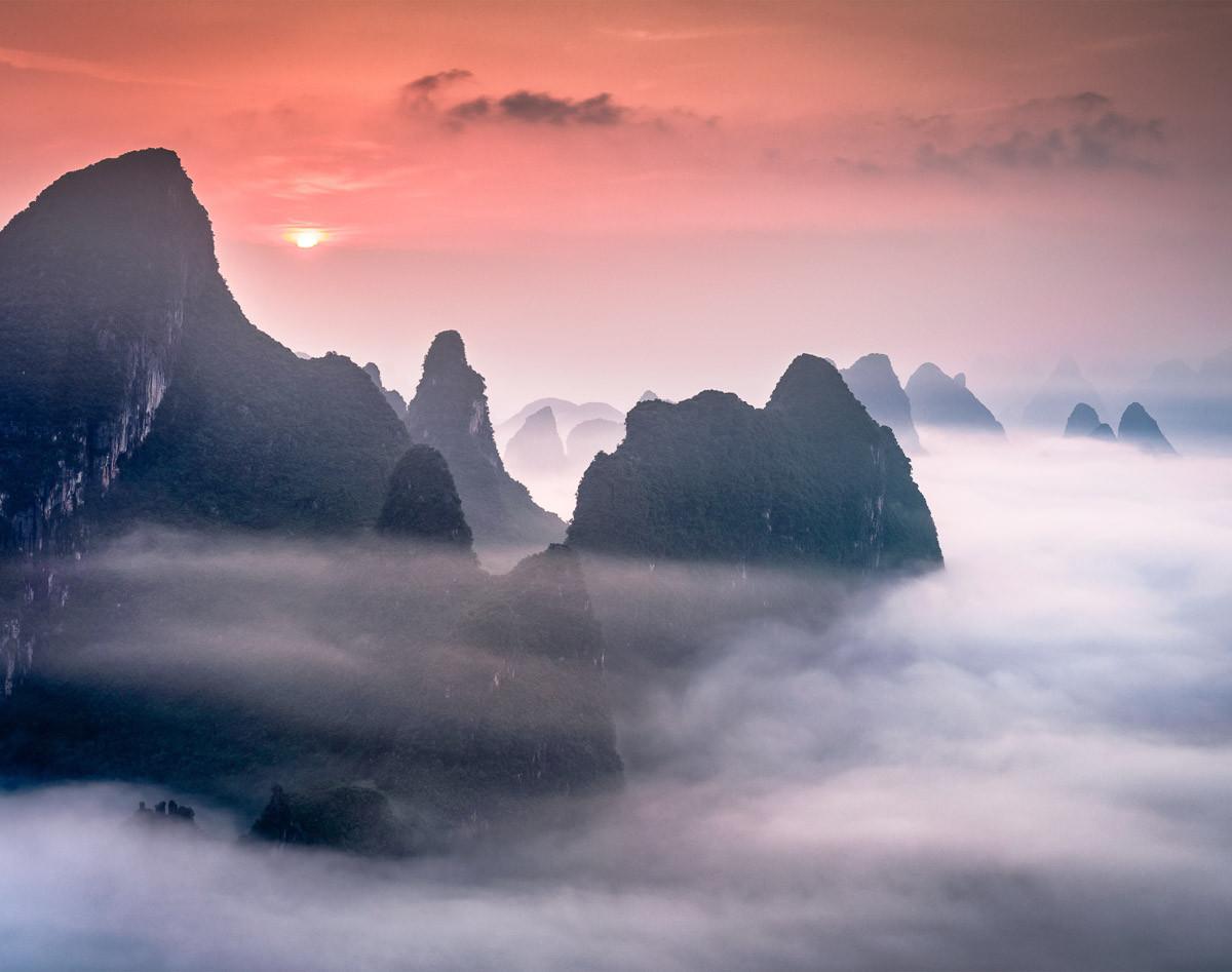 Karstgebirge in Guilin China
