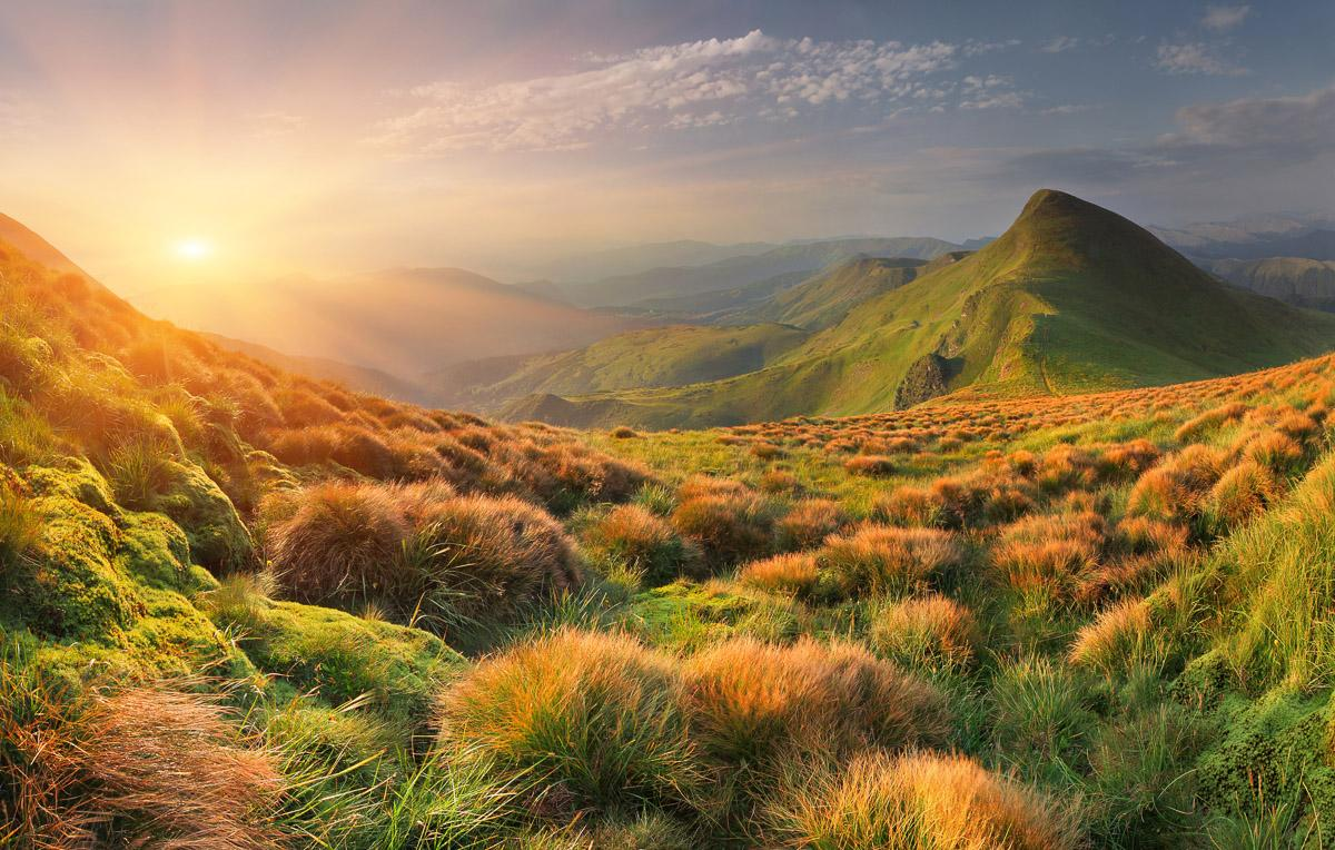 Berg Sonnenaufgang