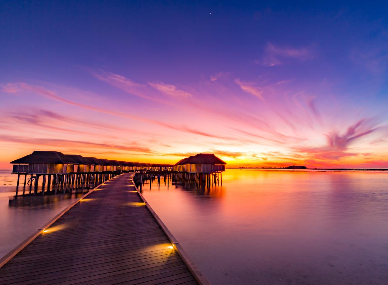 Sunset Pier Malediven