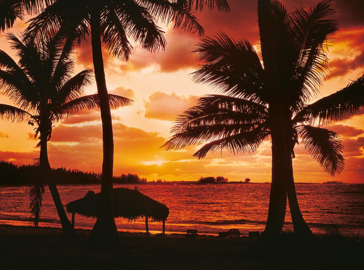 Palm Beach in der Abenddämmerung