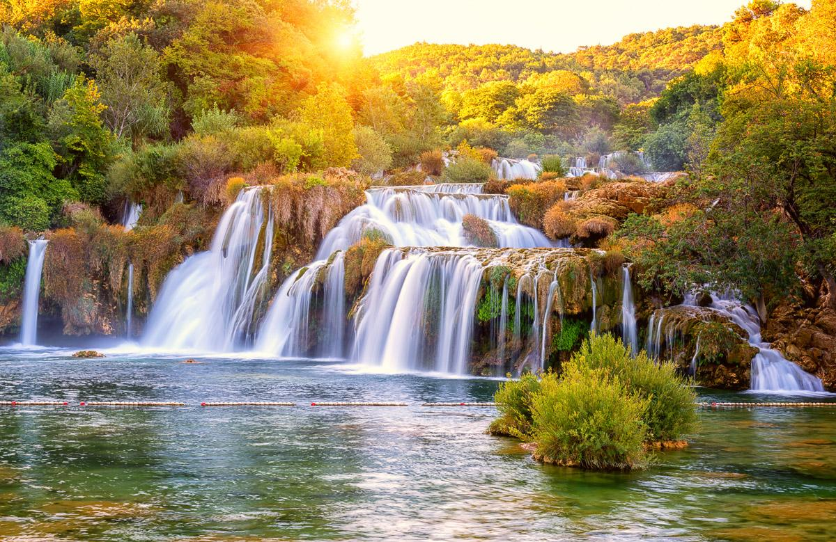Wasserfall Skradinski Buk Kroatien