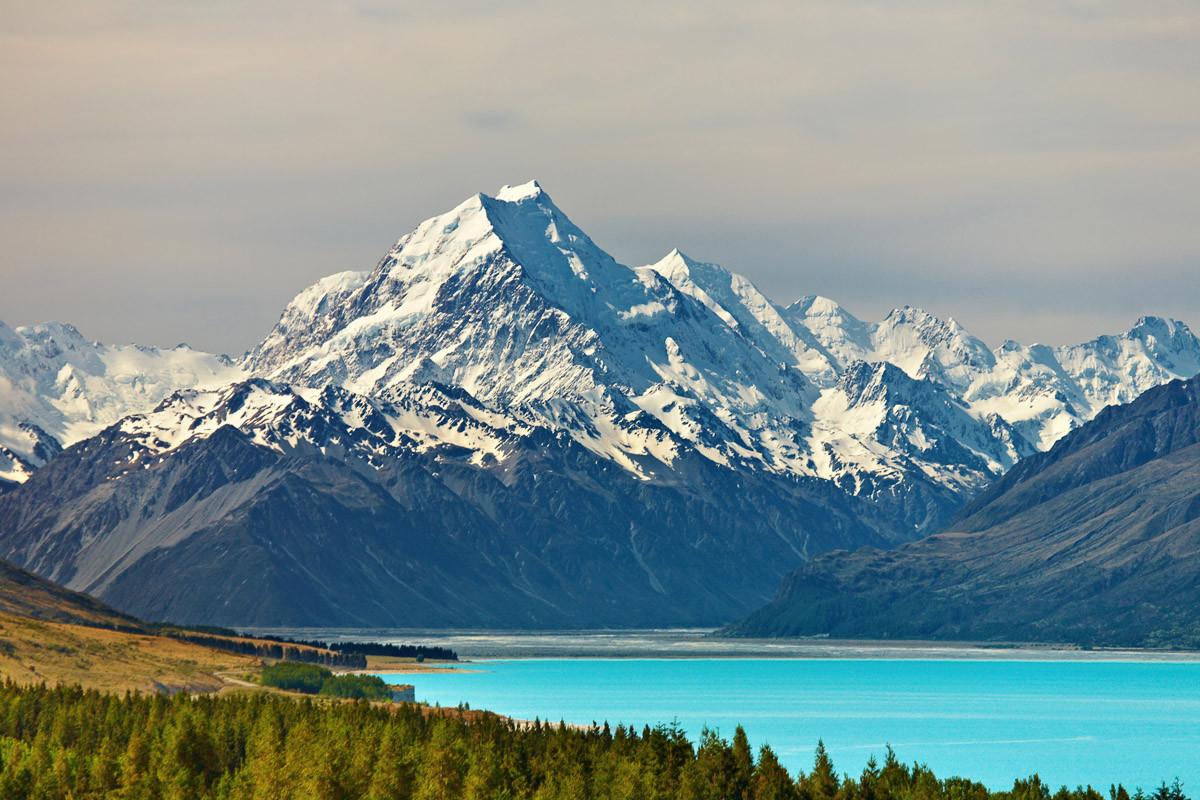 Mount Cook und Pukaki Lake