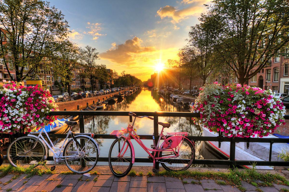 Amsterdam Sonnenaufgang