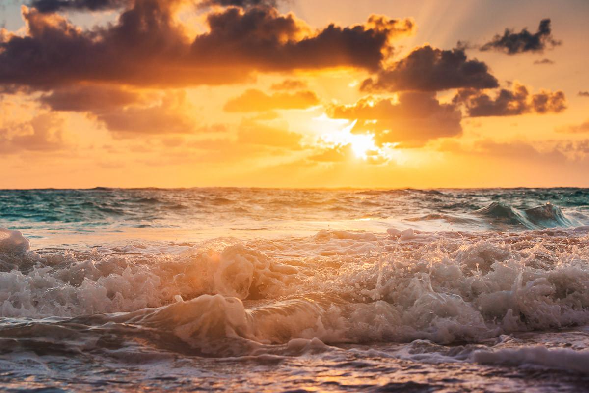 Karibisches Meer Wolkenlandschaft