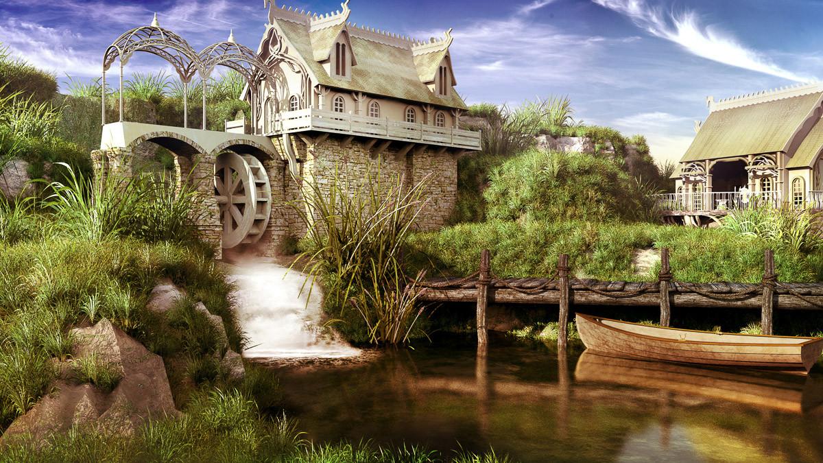 Märchenhafte Wassermühle