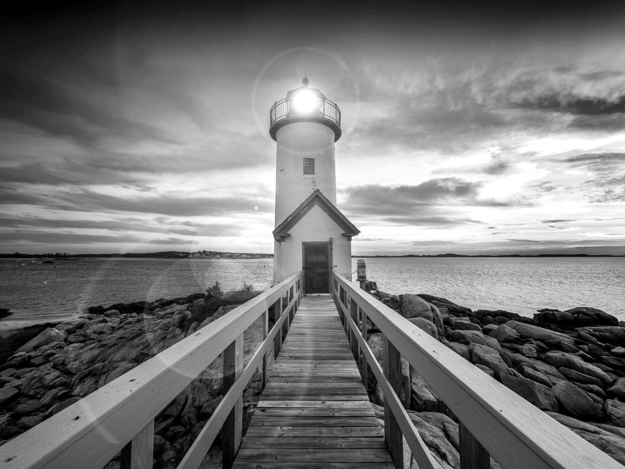 Leuchtturm Schwarz & Weiß