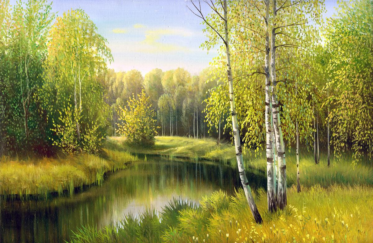 Fluss im Herbsttag