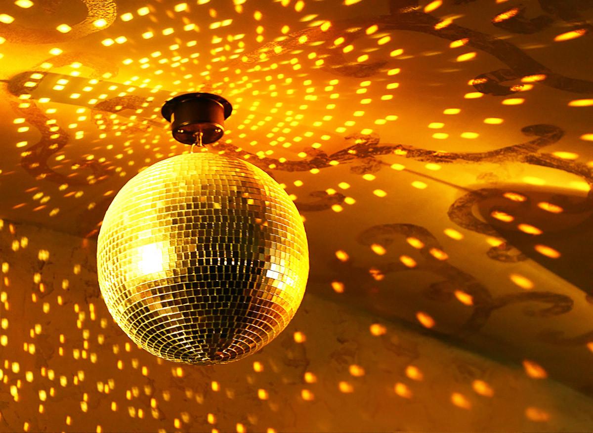 Goldener Discoball