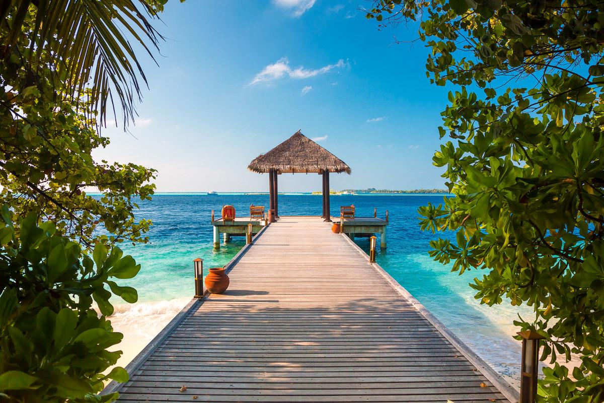 Malediven Anlegestelle