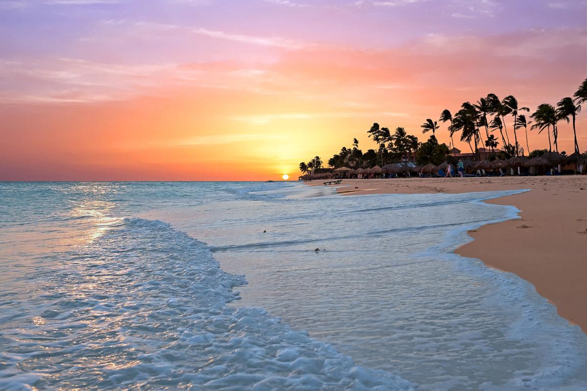 Aruba Beach Sonnenuntergang