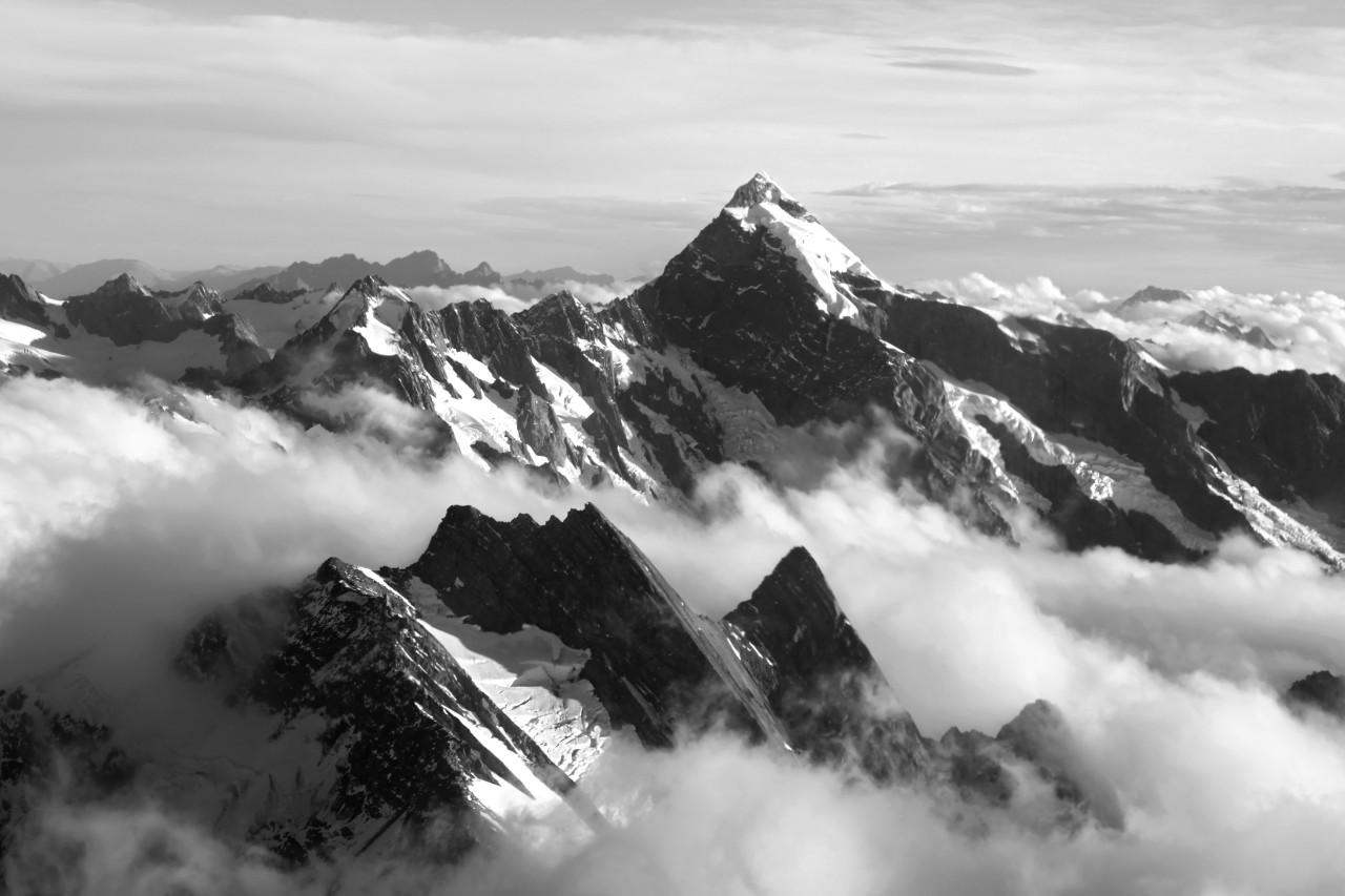 Gebirge Schwarz & Weiß