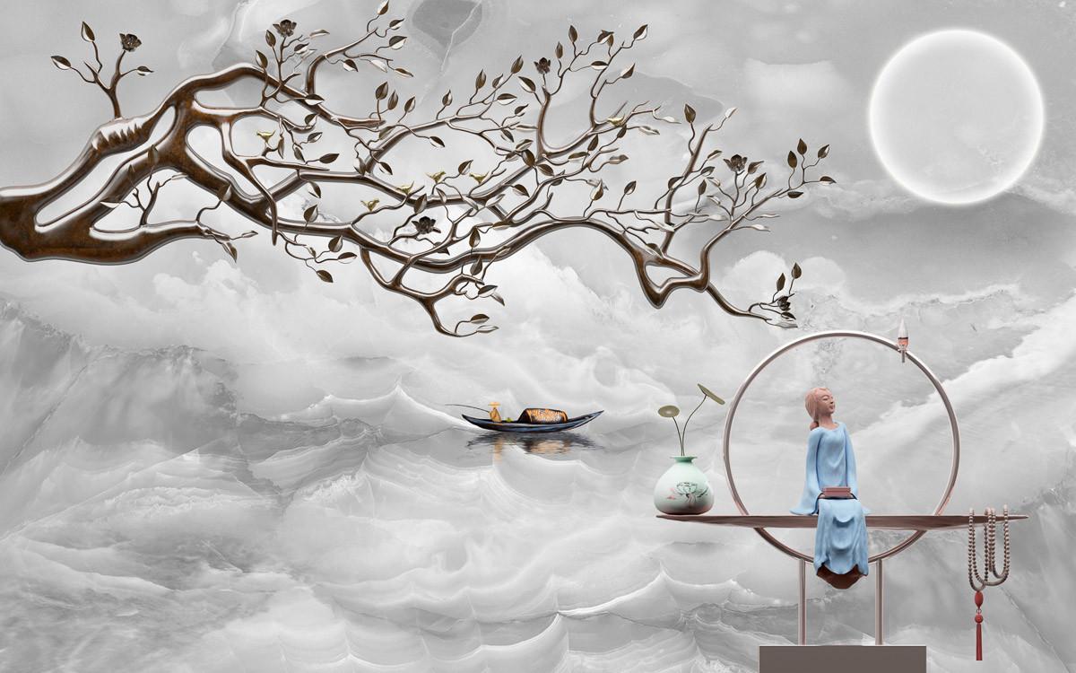 Wolkenmeer mir Baum