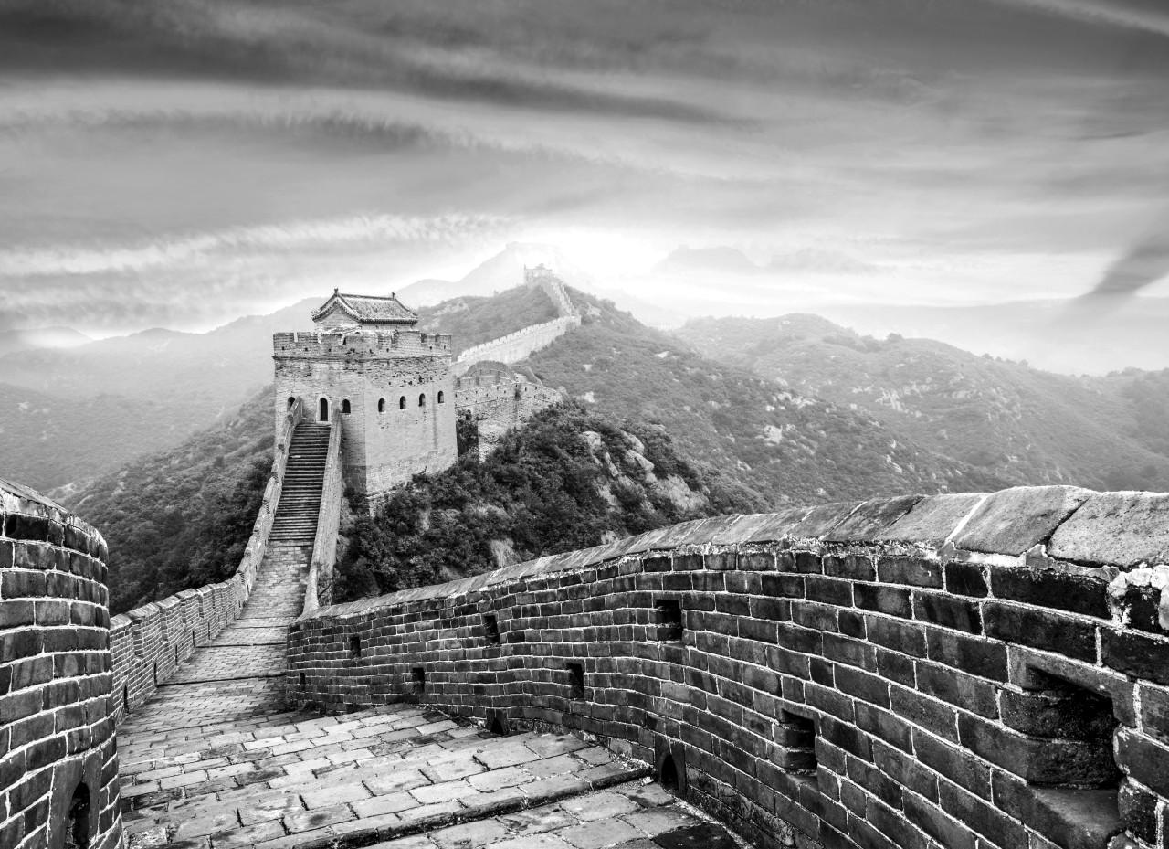 Chinesische Mauer Schwarz & Weiß
