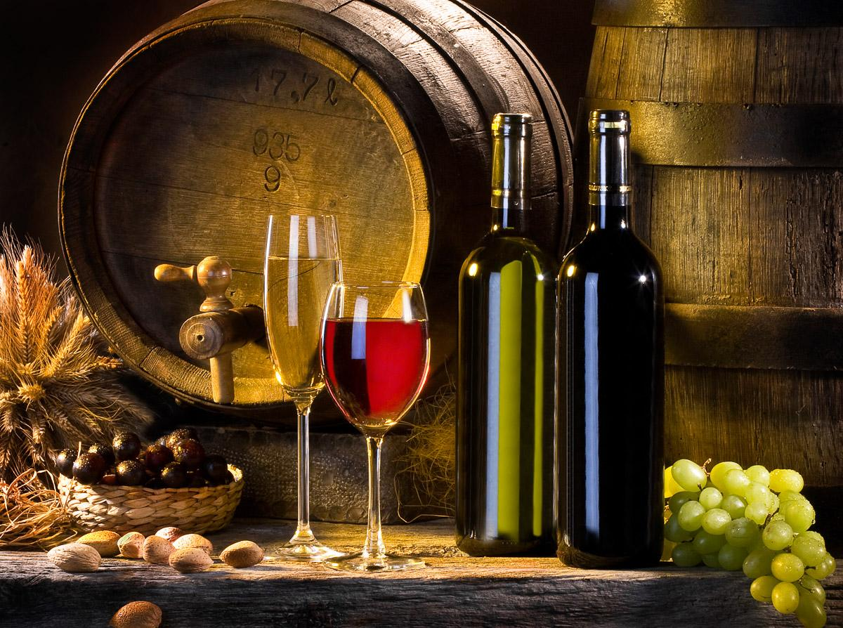 Weinstillleben