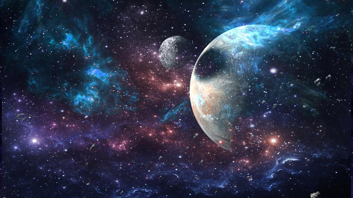 Planeten und Galaxie