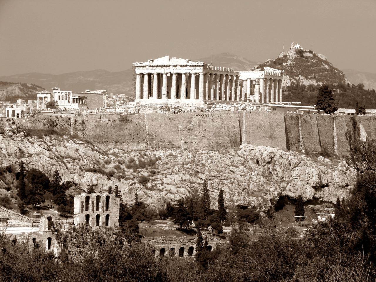 Griechenland Sepia