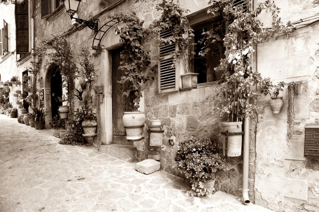 Häuser Sepia