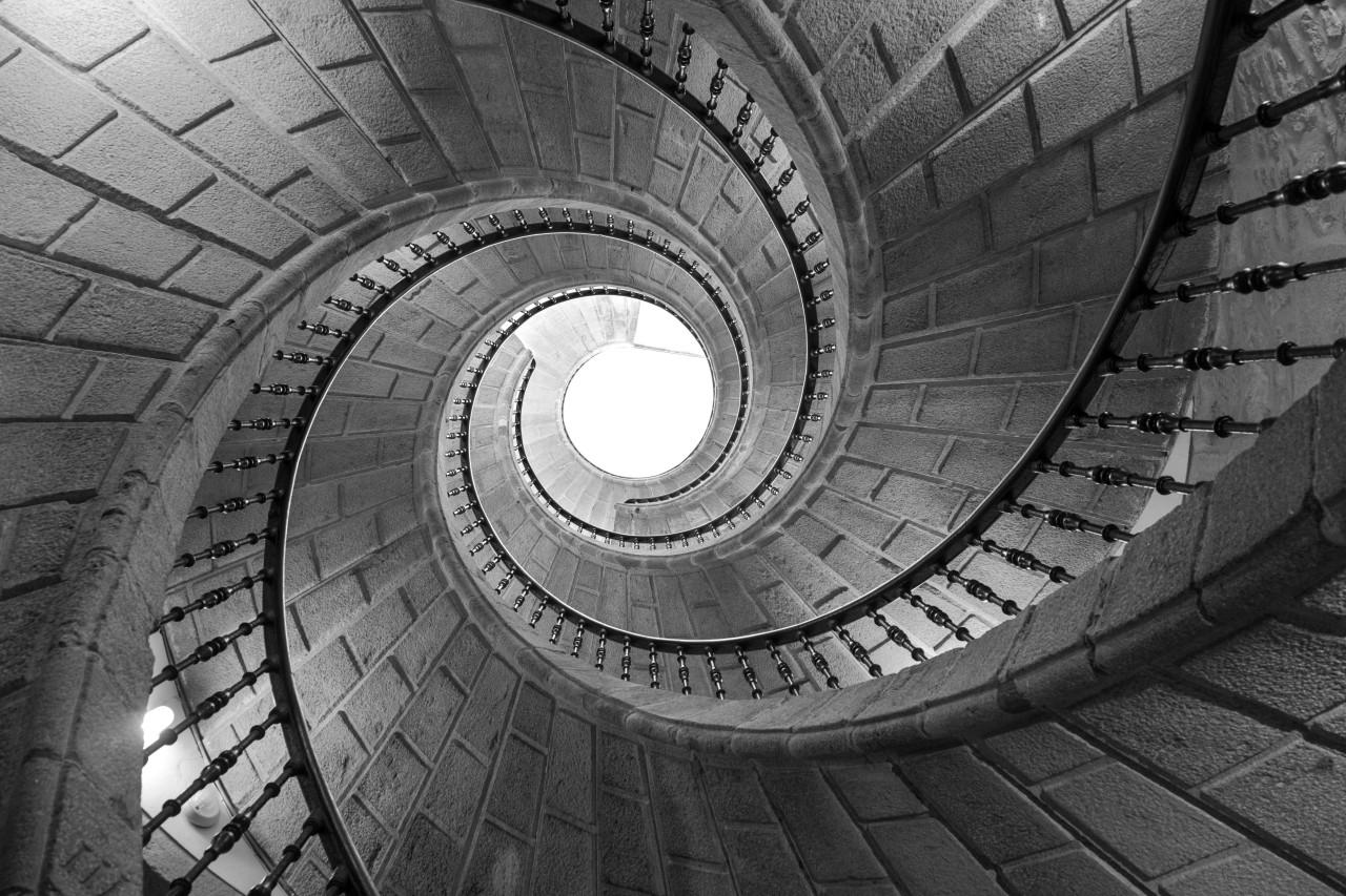 Treppen Schwarz Weiß