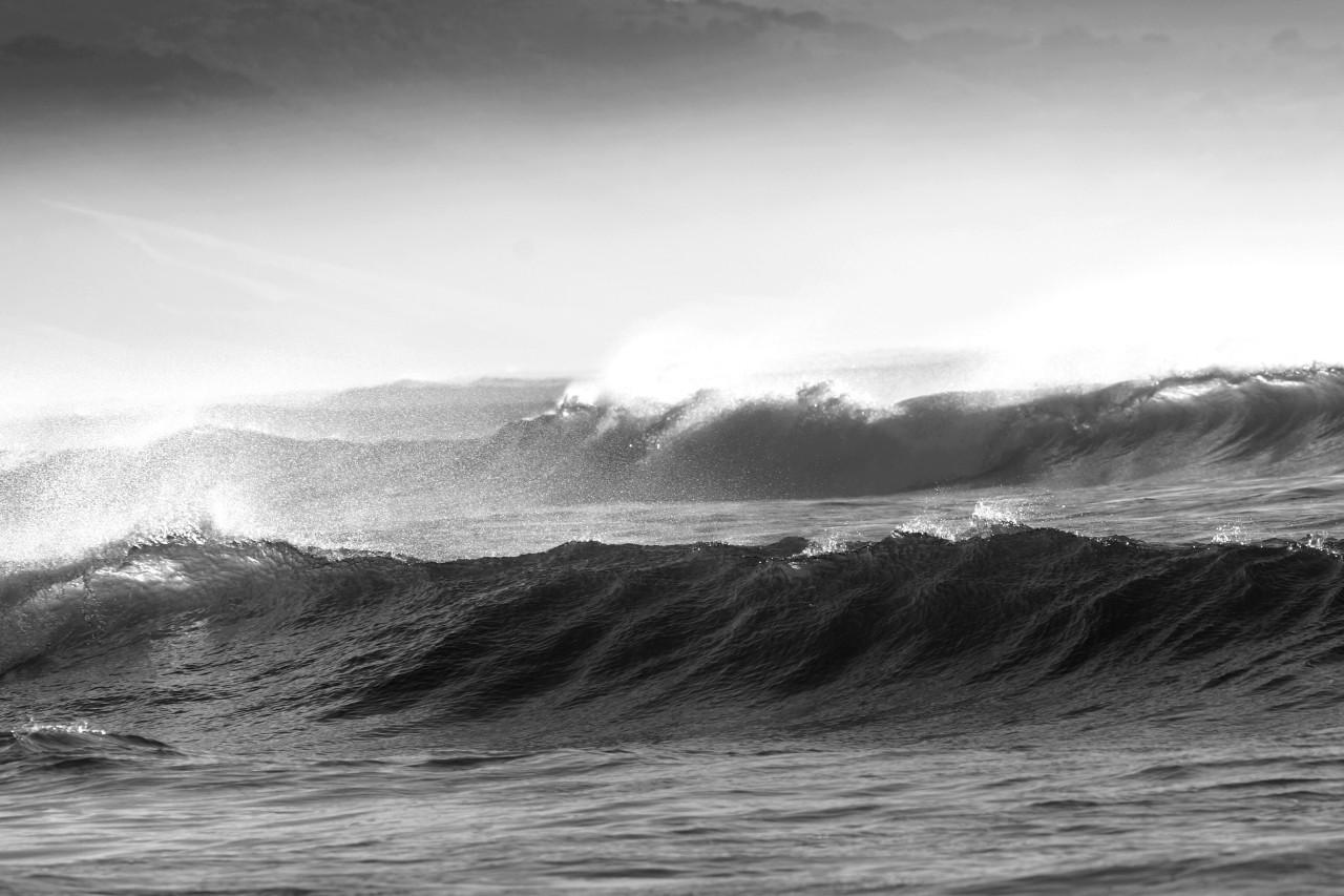 Wellen schwarz & weiß