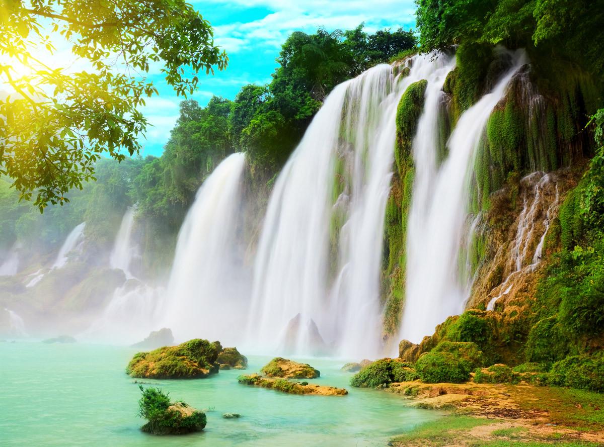 Ban Gioc Vietnam Wasserfall