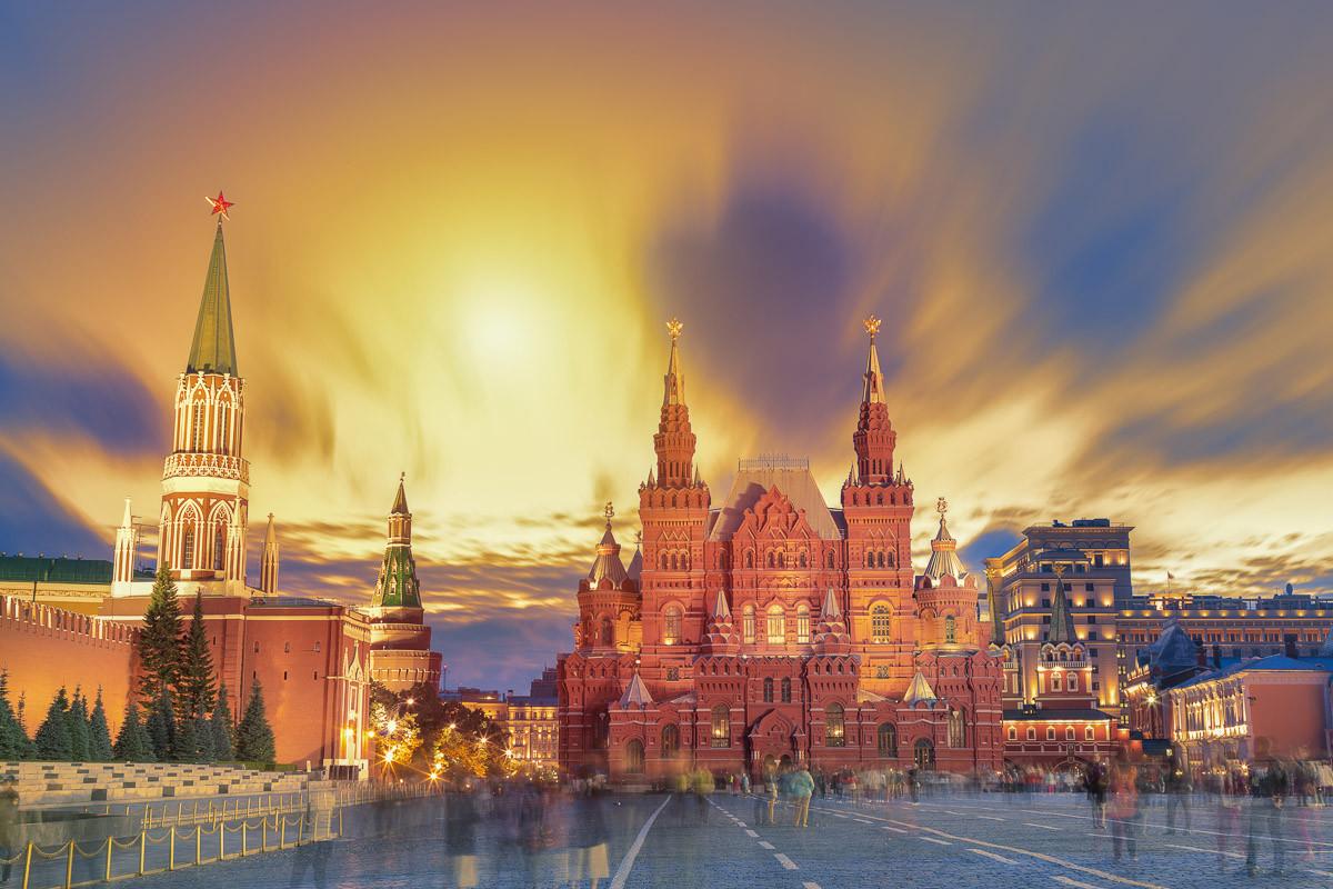 Roter Platz Sonnenuntergang Moskau