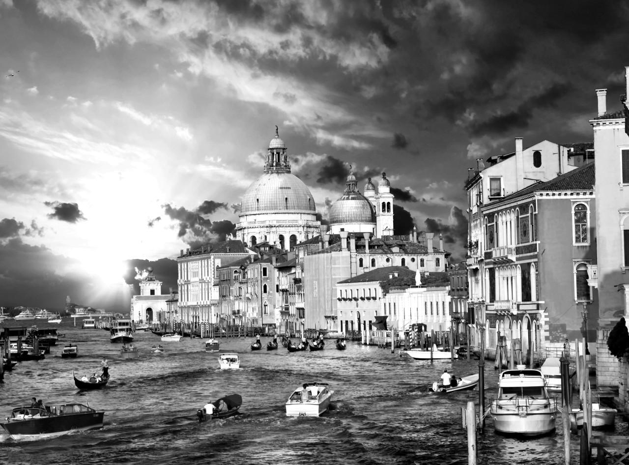 Venedig Schwarz & Weiß
