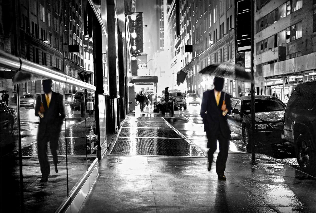 Wet Manhattan Street