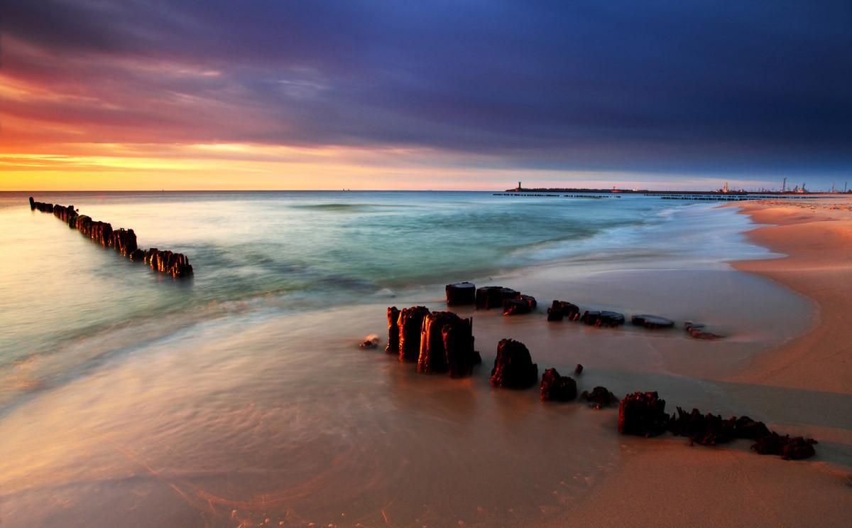Baltic Beach Sonnenaufgang