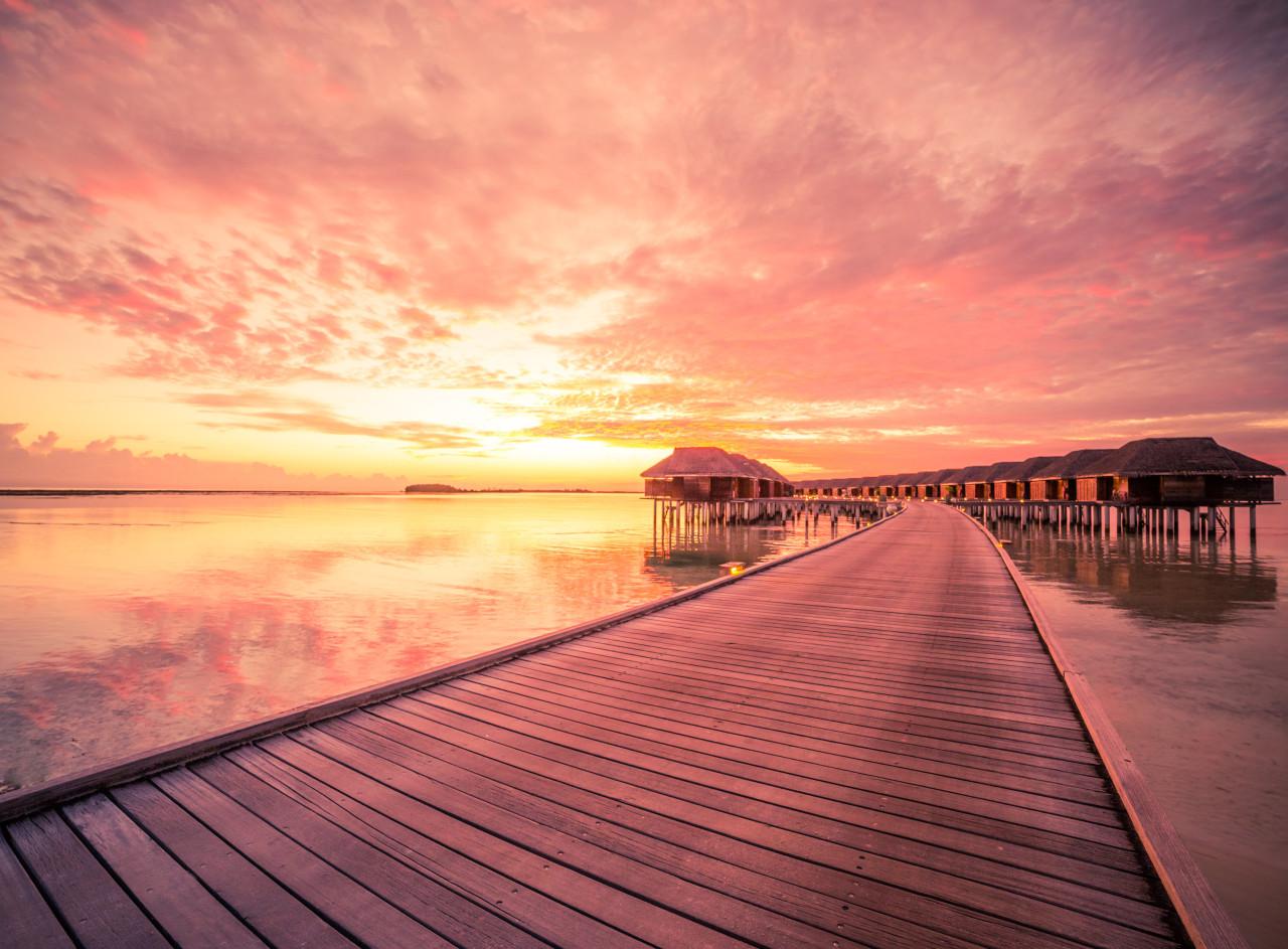 Wasserbungalows Malediven