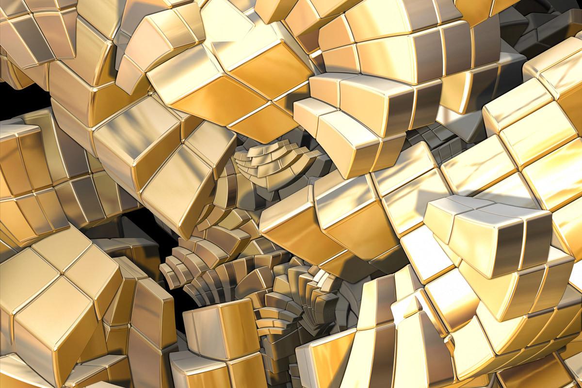 Fraktale goldene Treppe