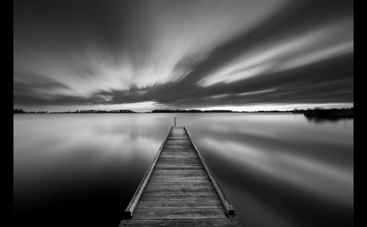 Steg in Schwarz & Weiß