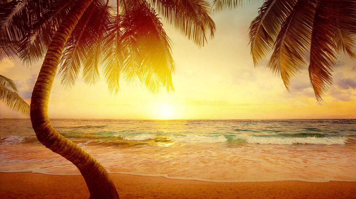 Tropischer Strand Sonnenaufgang