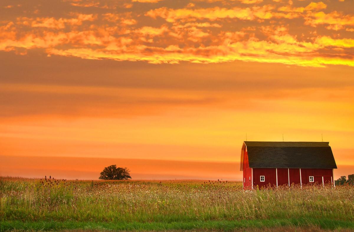 Bauernhof Landschaft