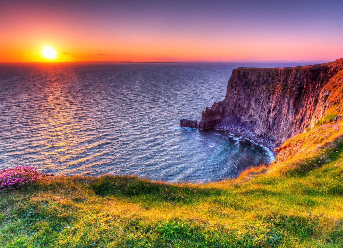 Sonnenuntergang an den Moher Cliffs