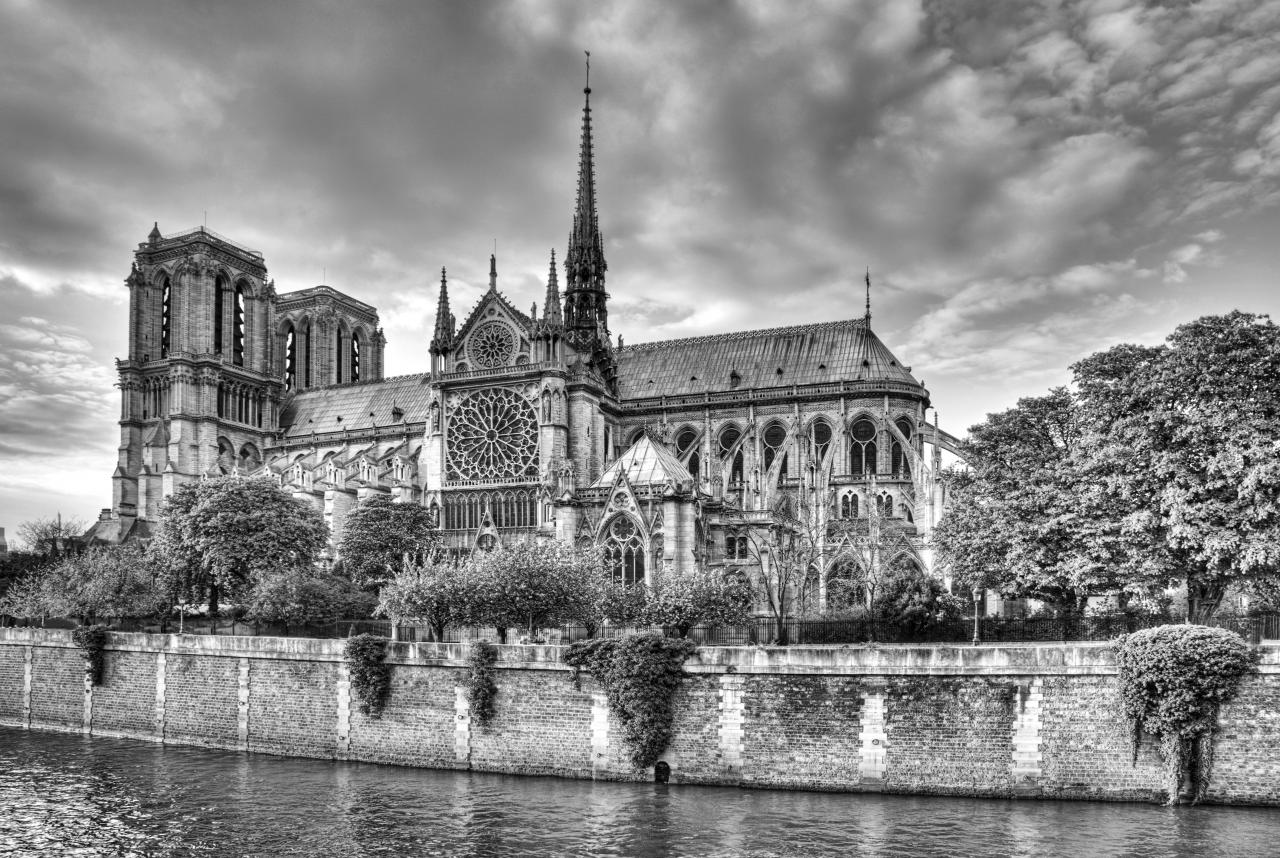 Notre Dame Schwarz & Weiß