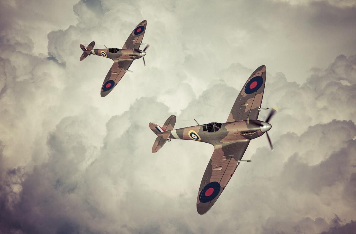 Spitfires Vintage Artwork