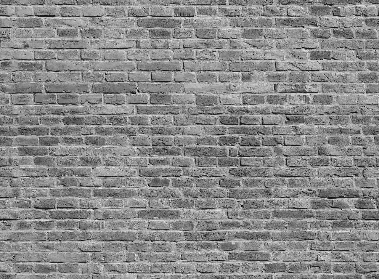Ziegelwand Schwarz & Weiß