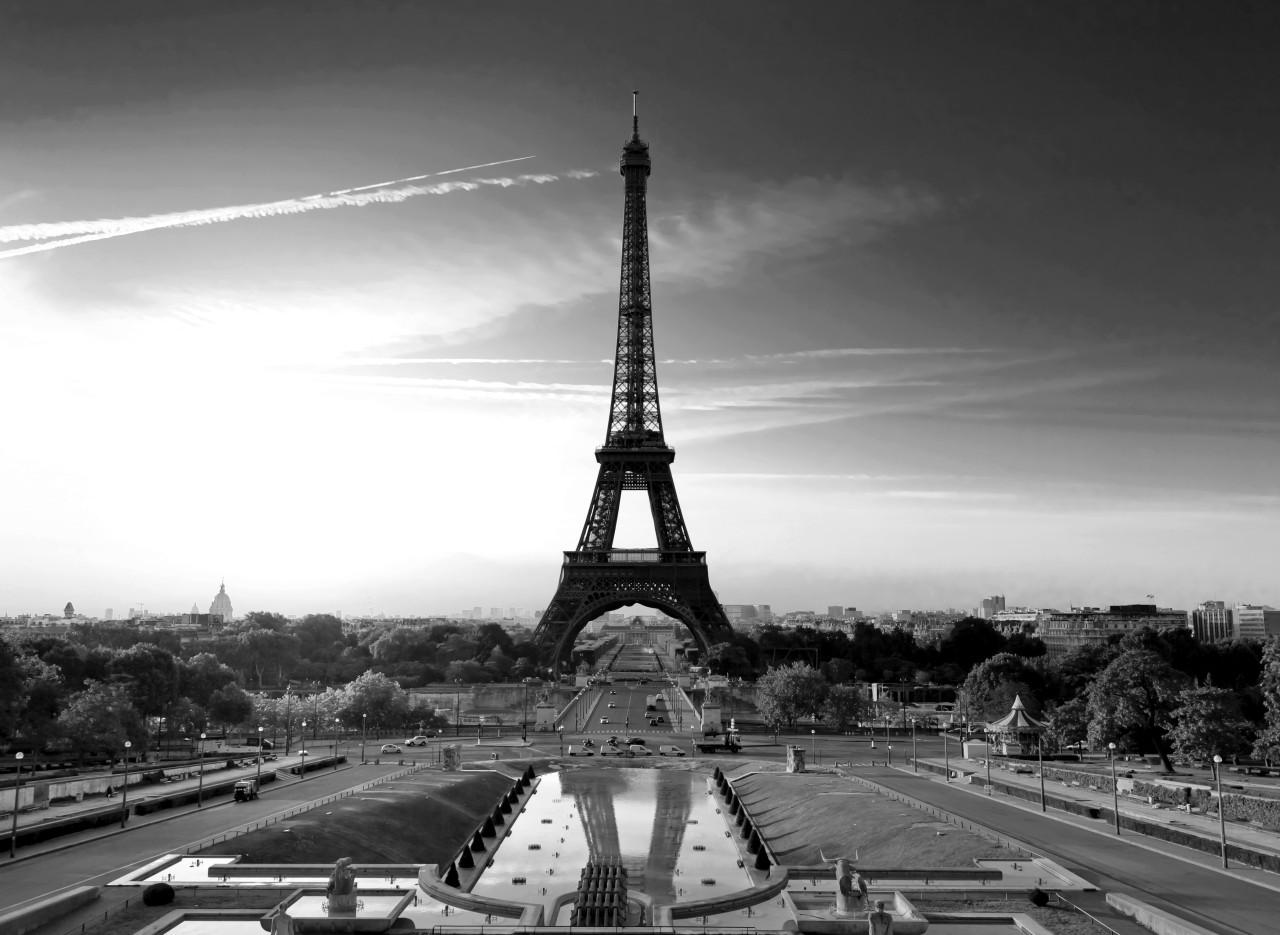 Paris Eiffelturm Schwarz & Weiß