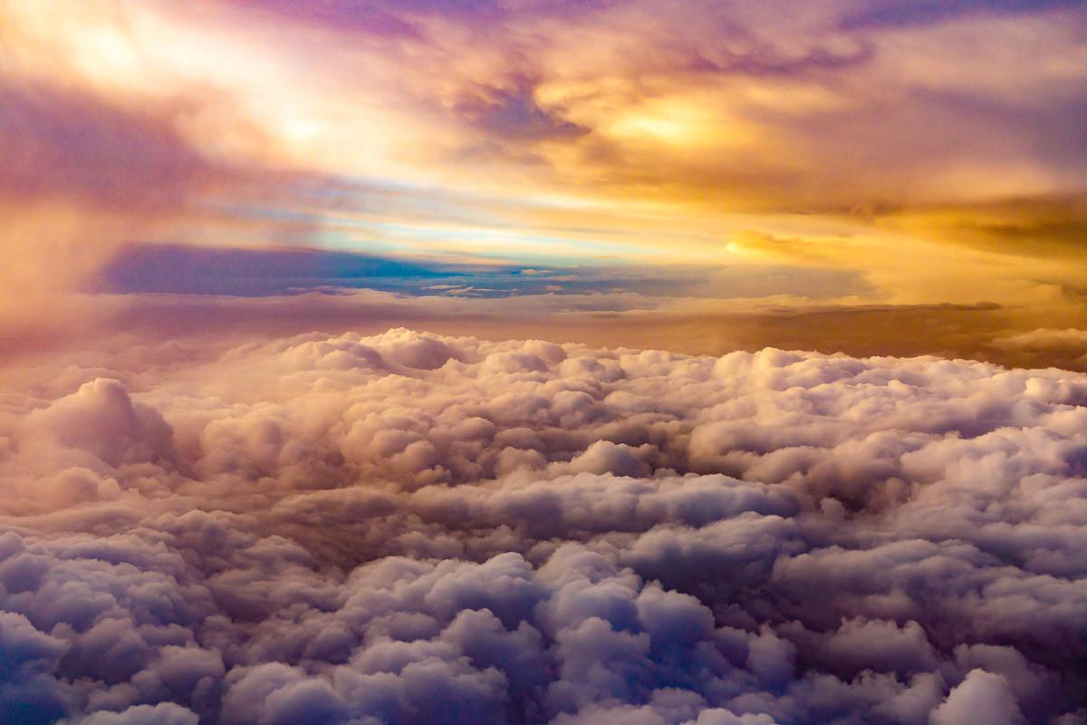 Ansicht über Wolken