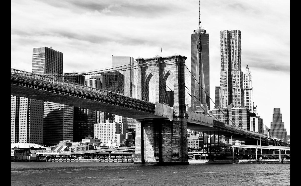 Brooklyn Bridge Schwarz & Weiß