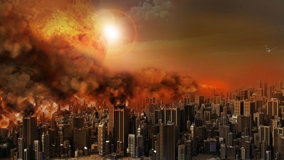 Apokalyptischer Stadtfeuersturm