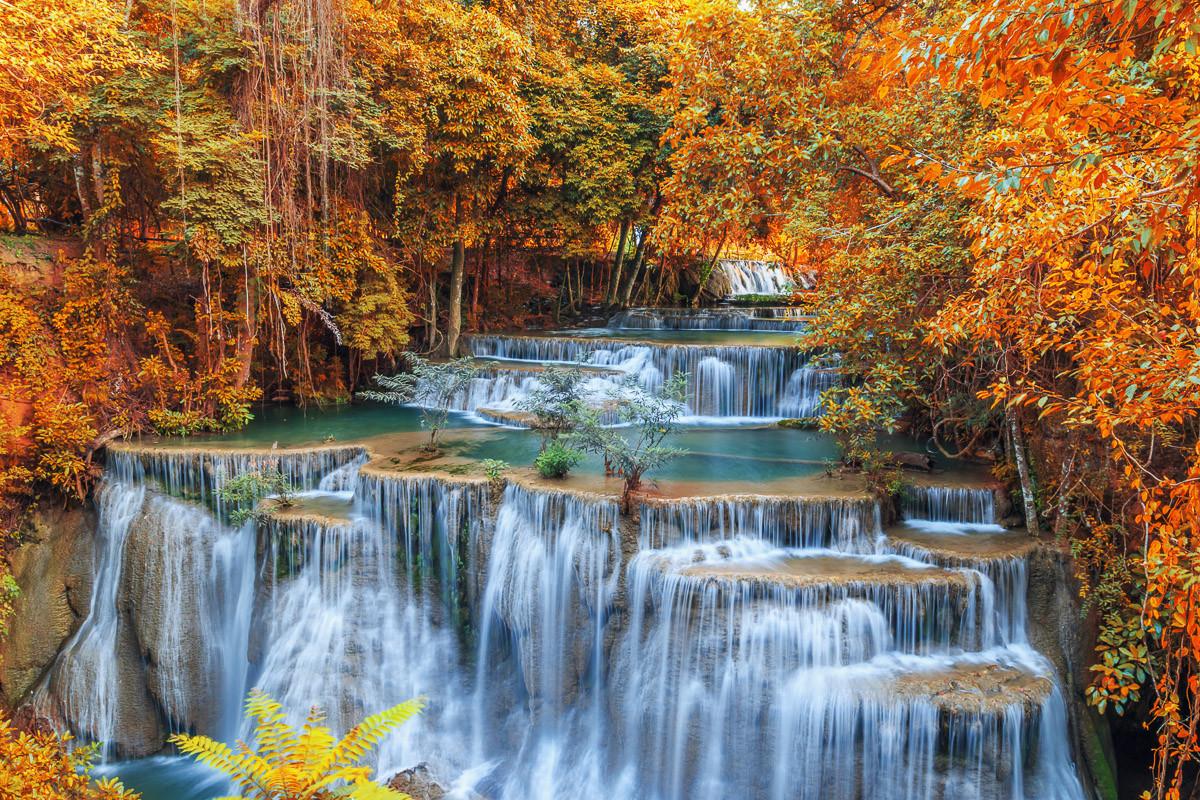 Herbst Wasserfall Thailand