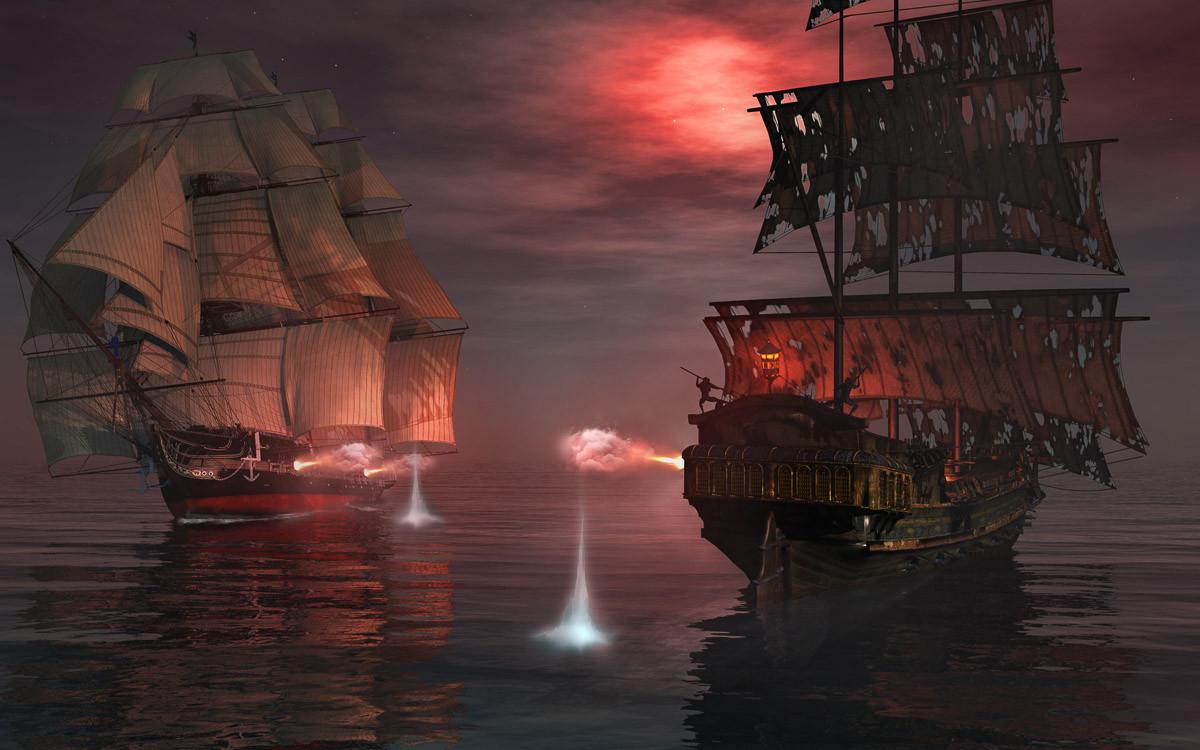 Piraten Seeschlacht