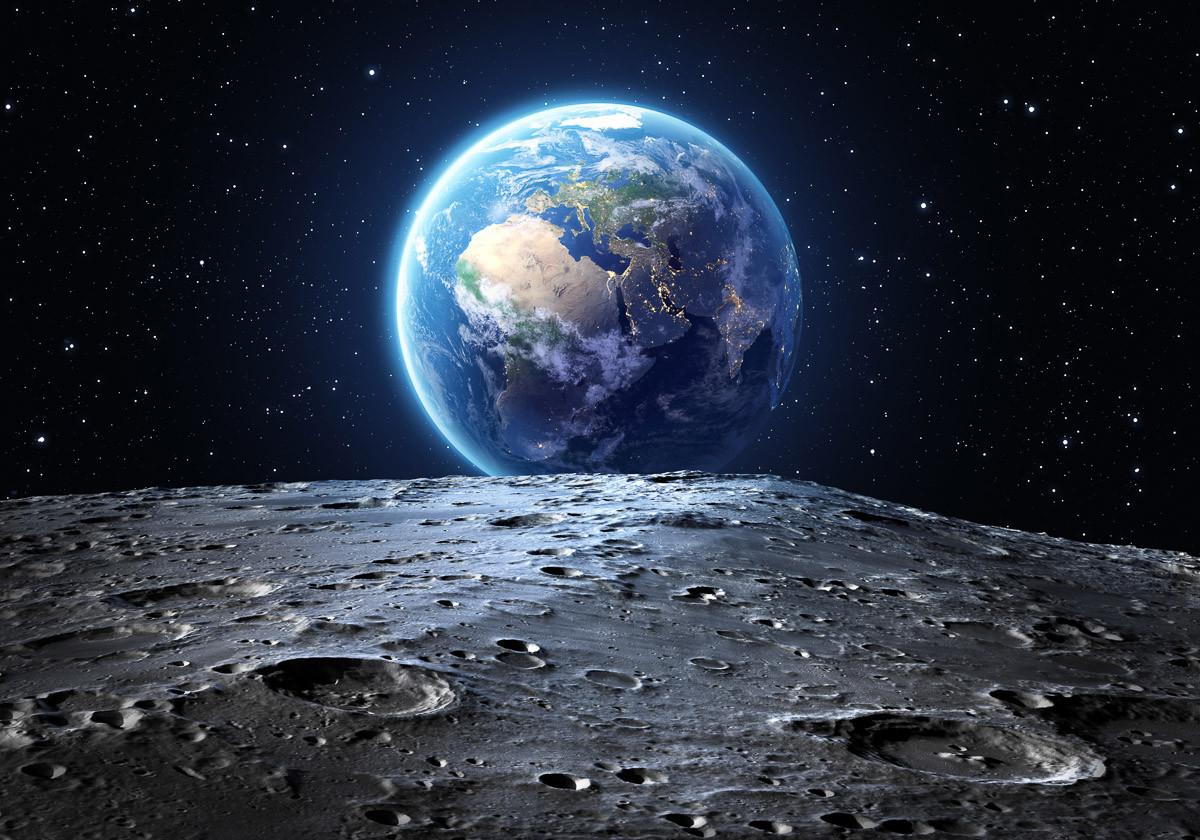 Erde vom Mond