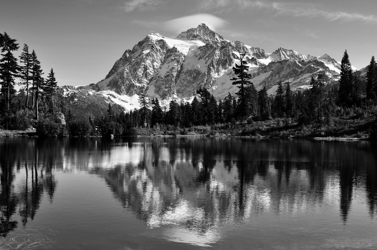 Landschaft Schwarz & Weiß