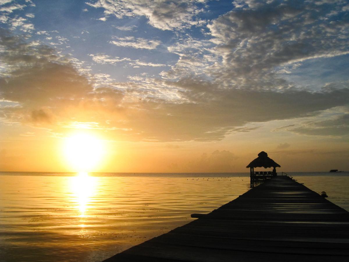 Sunburst über Belize
