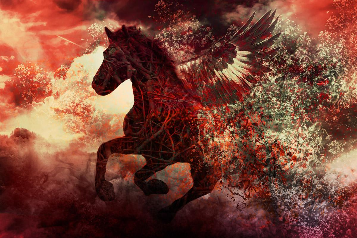 Apokalypse-Fantasiepferd