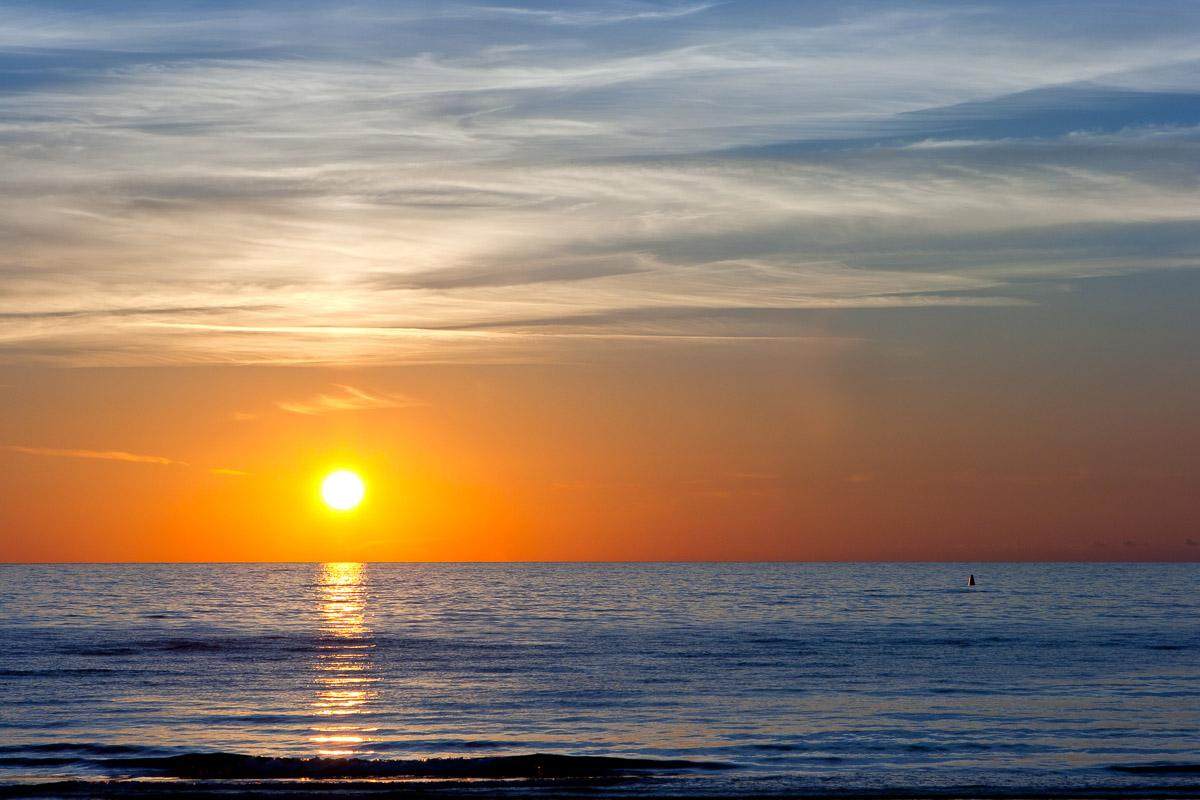 Sonnenuntergang an der Ostsee