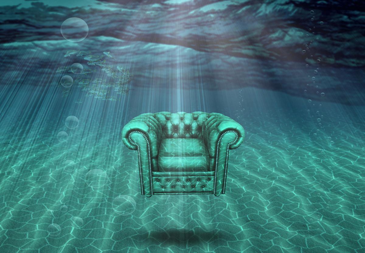 Surrealistischer Sessel