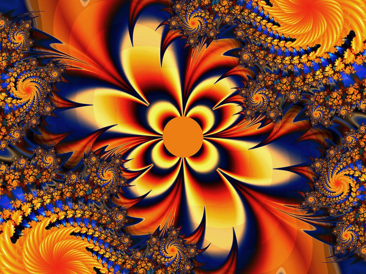 Abstrakte Verdrehen von Blumen
